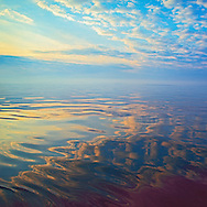 Long Island Sound Sunrise Reflection, NY, CT 20x20 archival gicleé canvas edition of 50, $600