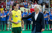 ANTWERP -   Topscorer and young talent Blake Govers with Jan Albers  after  the final Australia vs Belgium (1-0). left  WSP COPYRIGHT KOEN SUYK