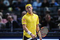 Kei Nishikori versus Victor Troicki at the ATP World Tour Masters 1000 Paris