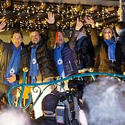NLD/Amstelveen/20181222 - SBS Kerstparade 2018, Bart Ettekhoven, Winston Gerstanowitz en Guido den Aantrekker, Selma van Dijk en Gallyon van Vessem