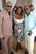 l to r: Bernard Bronner, Bevy Smith, Will Packer at The ABFF Luncheon Hosted by HSBC and Rush Philanthropic Arts held at The Delano in Miami Beach on June 27, 2009..The American Black Film Festival is an industry retreat and competitve marketplace for films and by and about people of color.