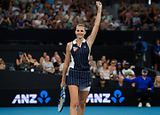 Karolina Pliskova of the Czech Republic in action during he final of the 2020 Brisbane International WTA Premier tennis tournament - Photo Rob Prange / Spain ProSportsImages / DPPI / ProSportsImages / DPPI