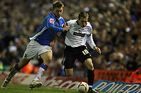 Photo: Rich Eaton.<br /> <br /> Birmingham City v Derby County. Coca Cola Championship. 09/03/2007.  Arturo Lupoli right of Derby and Nicklas Bendtner of Birmingham fight go for the ball
