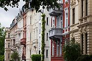 houses at the Stammheimer street in the district Riehl, Cologne, Germany.<br /> <br /> Haeuser in der Stammheimer Strasse im Stadtteil Riehl, Koeln, Deutschland.