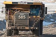 Tar Sands, March 2010. Syncrude and dumptrucks. Alberta Athabasca Tar Sands or Oil Sands.