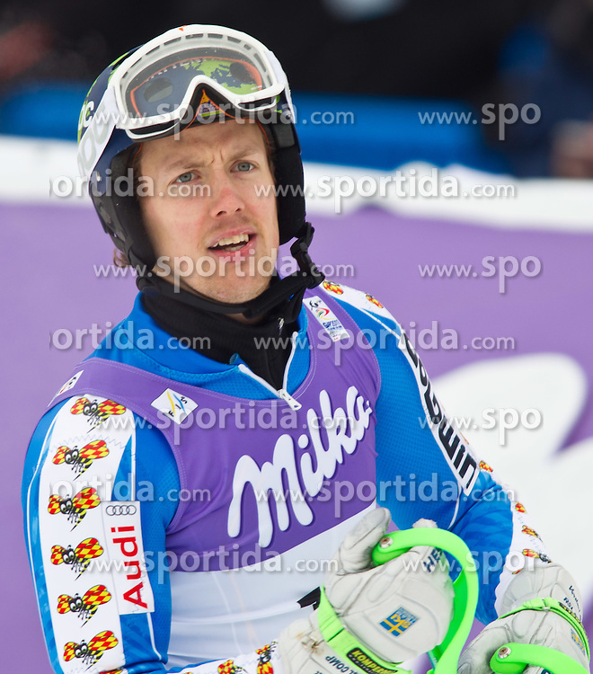 19.02.2011, Gudiberg, Garmisch Partenkirchen, GER, FIS Alpin Ski WM 2011, GAP, Herren, Slalom, im Bild Axel Baeck (SWE) // Axel Baeck (SWE) during Men's Slalom Fis Alpine Ski World Championships in Garmisch Partenkirchen, Germany on 20/2/2011. EXPA Pictures © 2011, PhotoCredit: EXPA/ J. Groder