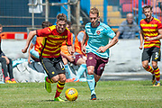 Partick Thislte's Blair Spittal runs past Hearts Ollie Bozanic during the Pre-Season Friendly match between Partick Thistle and Heart of Midlothian at Central Park Stadium, Cowdenbeathl, Scotland on 8 July 2018. Picture by Malcolm Mackenzie.