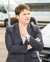 Pictured: Ruth Davidson; <br /> <br /> Scottish Conservative leader Ruth Davidson, MSP,  joined shadow health secretary Miles Briggs to launch the party&rsquo;s Health Advisory Board at the Scottish ASmbulance Service Southeast Divisional HQ.  Ms Davidson and Mr Briggs were shown the equipment in the average ambulance by Richard Paton, Ambulance Service manager and Callum Johnston, Specialist medic.<br /> <br /> Ger Harley | EEm 6 September 2017