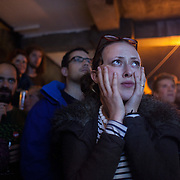 The Forest Cafe was rammed with YES campaigners and voter watching the results come in through the night. <br />