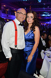 GREGG WALLACE and ANNE-MARIE STERPINI at the Caudwell Children's annual Butterfly Ball held at The Grosvenor House Hotel, Park Lane, London on 15th May 2014.
