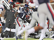 Ole Miss wide receiver Laquon Treadwell (1) scores a touchdown vs. Auburn at Vaught-Hemingway Stadium in Oxford, Miss. on Saturday, November 1, 2014. (AP Photo/Oxford Eagle, Bruce Newman)