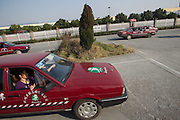 HANGZHOU, CHINA - NOVEMBER 19:  China Out - Finland out <br /> <br /> Family Graves In A Driving School  <br /> <br /> Students drive around many graves at training base of Liqiang Driving School on November 19, 2013 in Hangzhou, Zhejiang province of China. Headmaster Mr.Liu established this driving school in 2006, many villagers refuse to remove their family graves as for protecting its Feng Shui. <br /> ©exclusivepix