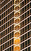 Detail of glass windows on the Trump International building, Las Vegas, Nevada