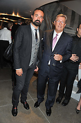 Left to right, EVGENY LEBEDEV and ALAN JUDD Chairman & Joint CEO St.James Theatre at the opening of the new St.James Theatre, 12 Palace Street, London SW1 on 13th September 2012.