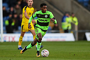 Forest Green Rovers Reece Brown(10) runs forward during the The FA Cup 1st round match between Oxford United and Forest Green Rovers at the Kassam Stadium, Oxford, England on 10 November 2018.