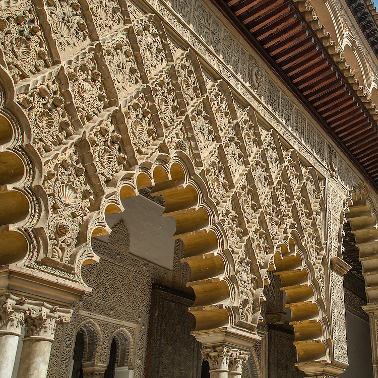 Arabic Arches in Seville, Spain