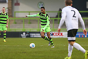 Forest Green Rovers Ethan Pinnock(16) runs forward during the Vanarama National League match between Forest Green Rovers and Boreham Wood at the New Lawn, Forest Green, United Kingdom on 11 February 2017. Photo by Shane Healey.