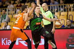 Gregor Hrovat of Petrol Olimpija during Basketballl match between Petrol Olimpija Ljubljana and KK Cedevita in Round #18 of ABA League, on January 27, 2018 in Tivoli sports hall, Ljubljana, Slovenia. Photo by Urban Urbanc / Sportida