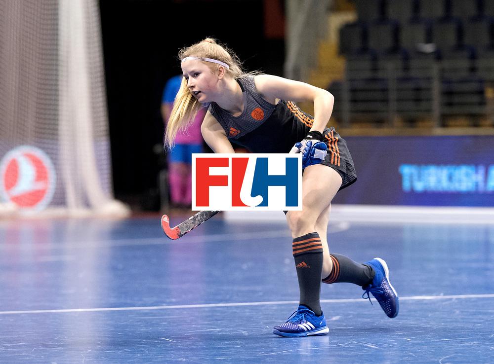 BERLIN - Indoor Hockey World Cup<br /> Women: Netherlands - United States<br /> foto: Gabrielle Mosch.<br /> WORLDSPORTPICS COPYRIGHT FRANK UIJLENBROEK