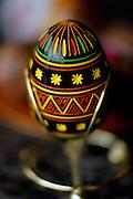 Image of a Ukrainian pysanka, easter egg, in Lviv, Ukraine, property released
