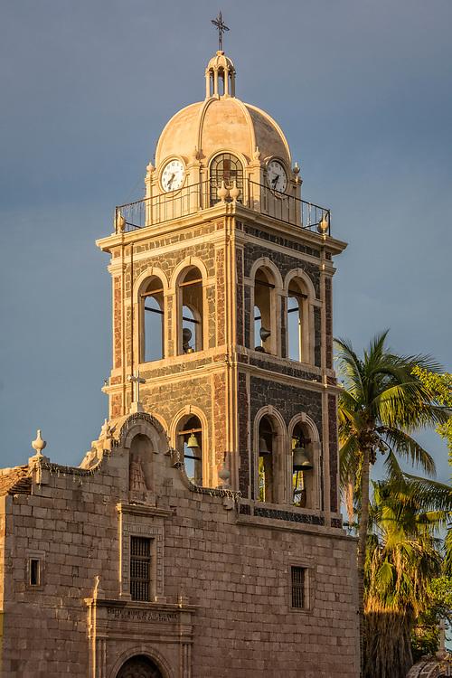 Misión de Nuestra Señora de Loreto Conchó in Loreto, Baja California Sur, Mexico. Established in 1697 at the native settlement of Concho by Jesuit missionary Juan María de Salvatierra, Loreto was the first Spanish town and mission successfully established in Baja.