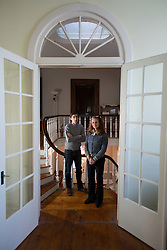 Blue Grass Trust for Historic Preservation executive director Sheila Ferrell, right, and director of preservation Jason Sloan posed for a portrait, Friday, Feb. 05, 2016 at Thomas Hunt Morgan House in Lexington. <br /> <br /> The BGT recently purchased the Thomas Hunt Morgan house to serve as a rental space and a new headquarters