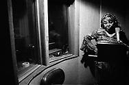 Denise LaSalle in the recording studio, Memphis, 2004