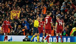 LIVERPOOL, ENGLAND - Tuesday, April 24, 2018: Referee Felix Brych awards AS Roma a penalty during the UEFA Champions League Semi-Final 1st Leg match between Liverpool FC and AS Roma at Anfield. (Pic by David Rawcliffe/Propaganda)