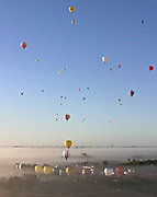 Balloons take off during the World Championships in Mildura