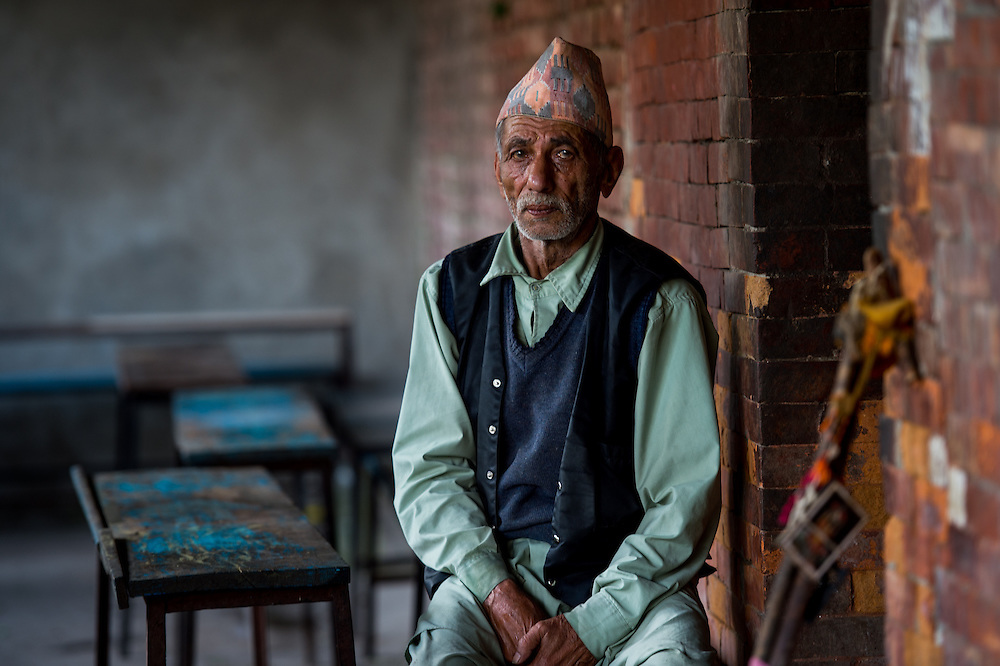 Portrait of a lost soul at old age home at Pashupathinath, Nepal.<br /> <br /> Nikon D4s | Nikkor 70-200 | f2.8 | 1/30s | ISO 250