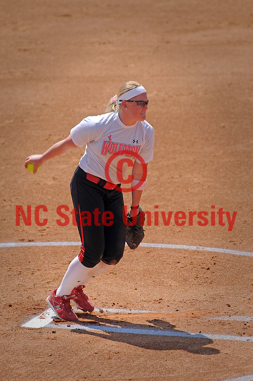 Softball pitcher winds up in ACC game against FSU.