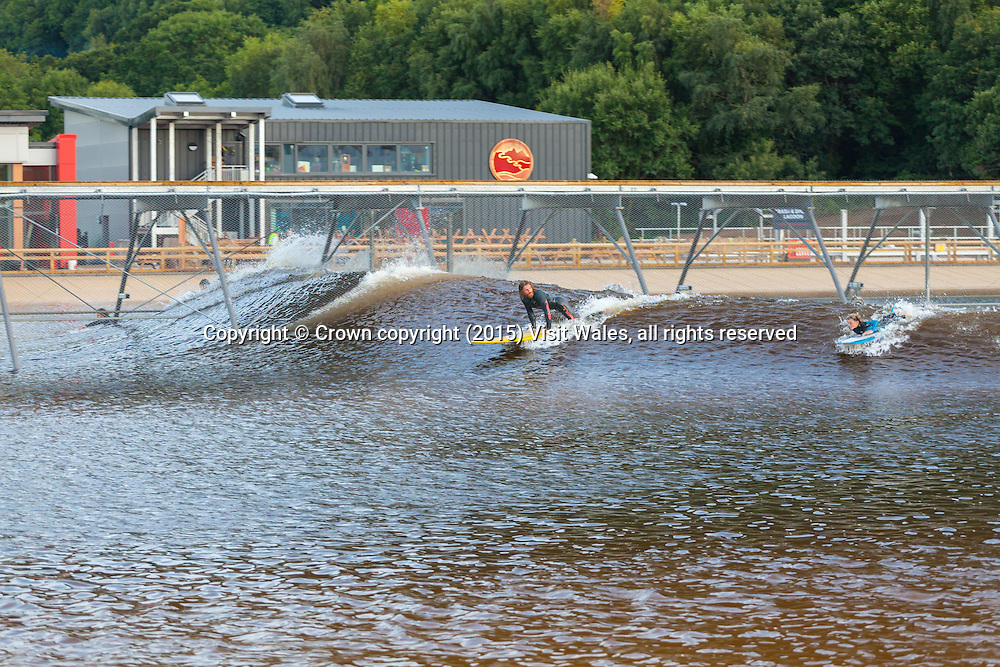 Surf Snowdonia<br /> Inland surf lagoon<br /> Dolgarrog<br /> Conwy County<br /> North<br /> Tourist Attractions<br /> Watersports<br /> Activities and Sports