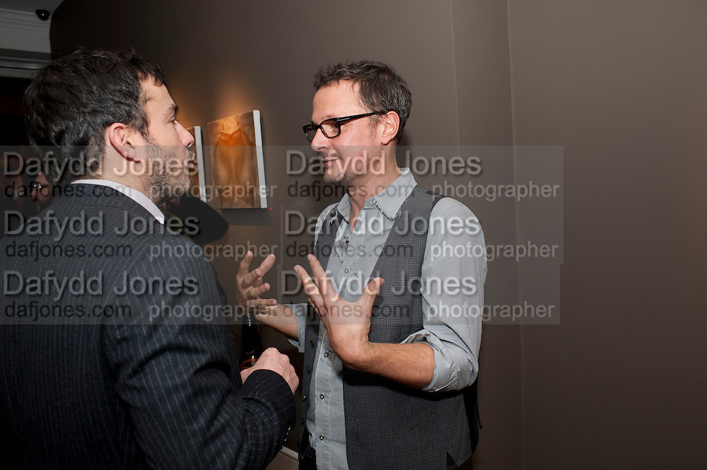 GILES COREN;  JONATHAN YEO; , ' You're Only Young Twice' Jonathan Yeo exhibition. Lazarides. 11 Rathbone Place. London. 9 December 2011.