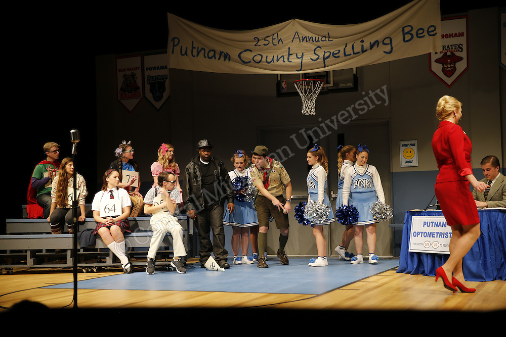 "25th Annual Putnam County Spelling Bee-University Theatre will present the ""25th Annual Putnam County Spelling Bee"". CCFA, Theatre, Musical. Photos by Steve Jessmore/Central Michigan University"
