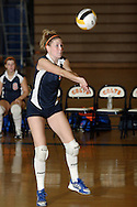 Middletown, N.Y. - A SUNY Orange player returns the ball against Dutchess Community College in a women's volleyball match on Oct. 11, 2007.