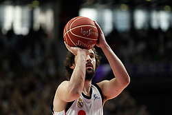 19.06.2015, Madrid, ESP, Liga Endesa, Real Madrid vs Barcelona, Finale, Spiel 1, im Bild Real Madrid&acute;s Sergio Llull // during the first game of final of Liga Endesa Real Madrid vs Barcelona at Madrid, Spain on 2015/06/19. EXPA Pictures &copy; 2015, PhotoCredit: EXPA/ Alterphotos/ Victor Blanco<br /> <br /> *****ATTENTION - OUT of ESP, SUI*****
