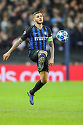 Inter Milan forward Mauro Icardi (9) during the Champions League group stage match between Tottenham Hotspur and Inter Milan at Wembley Stadium, London, England on 28 November 2018.