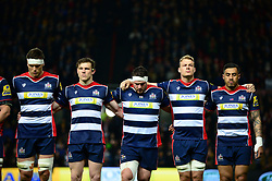 Bristol Rugby line up for a minutes silence to remember those who lost their lives in the attack on Westminster in the week - Mandatory by-line: Dougie Allward/JMP - 24/03/2017 - RUGBY - Ashton Gate - Bristol, England - Bristol Rugby v Gloucester Rugby - Aviva Premiership