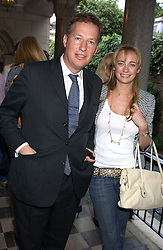 ORLANDO FRASER and CLEMENTINE HAMBRO at the No Campaign's Summer Party - a celebration of the 'Non' and 'Nee' votes in the Europen referendum in France and The Netherlands held at The Peacock House, 8 Addison Road, London W14 on 5th July 2005.<br />