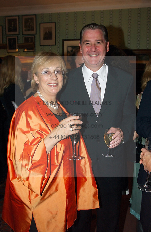 Interior designer NINA CAMPBELL and   at a party for interior designer Katherine Ireland held at Marks club, 46 Charles Street, London W1 on 27th September 2004.<br />