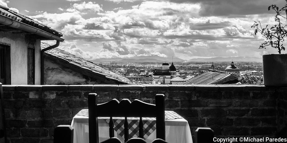 Dinner for one, overlooking Bogotá