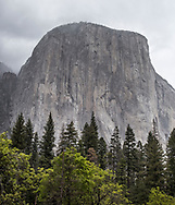 Located at Yosemite National park in California at 7,573 ft., El Capitan is one of the most famous rock formations in the world and a favorite for rock climbers.
