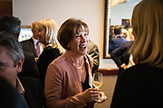 Leslie Marks networks during the Bay Area Corporate Counsel Awards at The Westin San Francisco Airport in Millbrae, California, on March 18, 2019. (Stan Olszewski for Silicon Valley Business Journal)