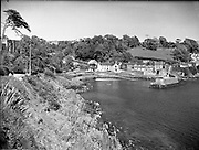 Glandore Harbour, Co. Cork.01/06/1952..Thanks so much to Eimear MacHale who helpfully messaged to let me know that this image Co. Cork' is actually Glandore Harbour, West Cork.  She even sent me a pic to illustrate her point. Thanks again Eimear!