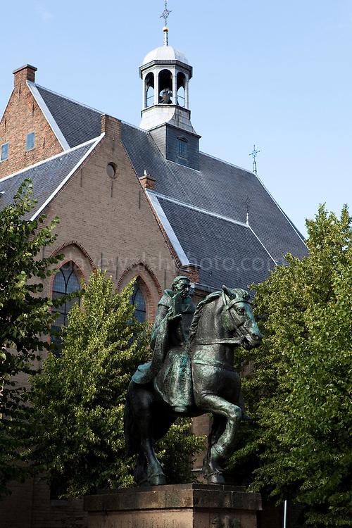 Statue of Willibrord outside Janskerk in Utrecht, Netherlands.