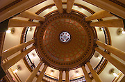 HACKENSACK, NJ - September 03:  View of the Rotunda of The Bergen County Court House on September 03, 2006 in RIDGEWOOD, NJ.  The style of the courthouse building is known as American Renaissance.  Construction began in 1910 and was completed in 1912 at a cost of one million dollars.  The interior dome of the rotunda area of the courthouse is modeled after the Pantheon in Rome. (Photo by Michael Bocchieri/Bocchieri Archive)