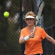 Elizabeth Allan, Australia, in action in the 60 Womens Singles Final during the 2009 ITF Super-Seniors World Team and Individual Championships at Perth, Western Australia, between 2-15th November, 2009