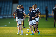 Millwall midfielder Ben Marshall (44) warming up with his teammates prior to the EFL Sky Bet Championship match between Millwall and Fulham at The Den, London, England on 20 April 2018. Picture by Toyin Oshodi.