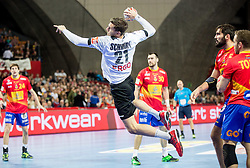 Erik Schmidt of Germany during handball match between National teams of Spain and Germany on Day 2 in Preliminary Round of Men's EHF EURO 2016, on January 15, 2016 in Centennial Hall, Wroclaw, Poland. Photo by Vid Ponikvar / Sportida