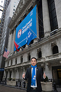 Onesmart IPO at the New York Stock Exchange on March 28, 2018 in New York City. (Photo by Ben Hider)